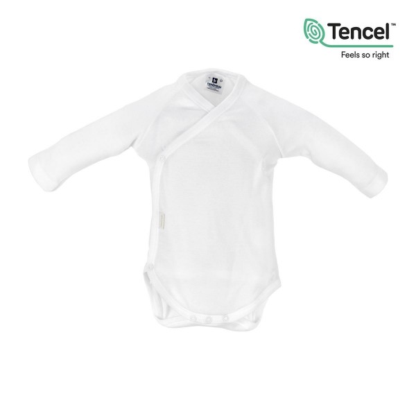 Body Recien Nacido M.larga Tencel Blanco