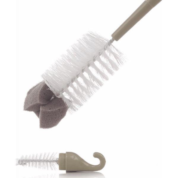 Cepillo limpiabiberones doble uso con...