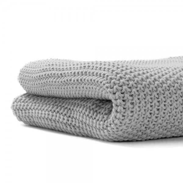 Manta de tricot de Algodón Gris...