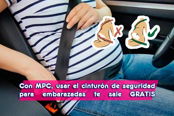 Cinturón de seguridad para embarazadas gratis